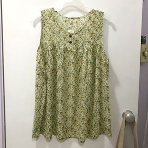 Tops - Floral cotton blouse from Japan